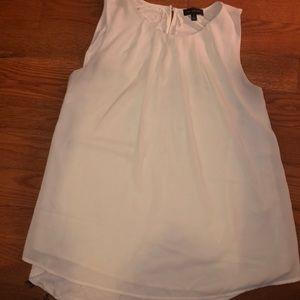 White loose dress tank top